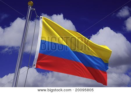 Waving Colombian Flag