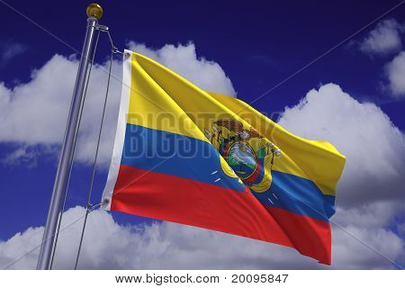 Waving Ecuadorian Flag