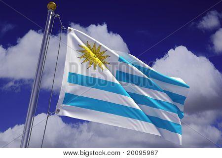Waving Uruguayan Flag