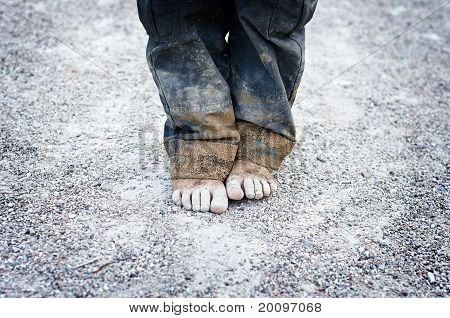 Child's Dirty Feet