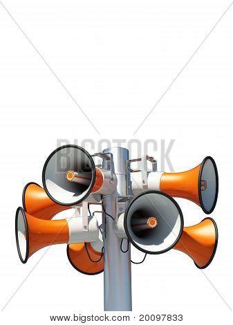 acht Lautsprecher
