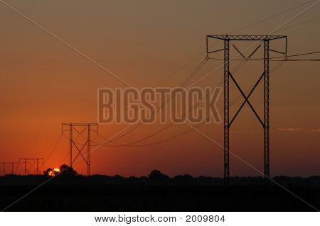 Power Line Sunrise 1