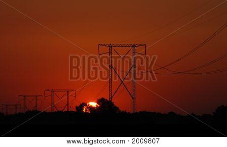 Power Line Sunrise 2