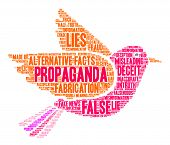 Propaganda Word Cloud poster
