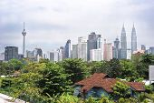 picture of klcc  - Panorama of Kuala Lumpur in the day - JPG