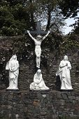 stock photo of crucifiction  - a statue of the crucifiction of christ - JPG