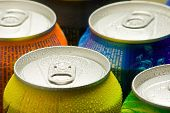 Cans Of Soft Drink poster