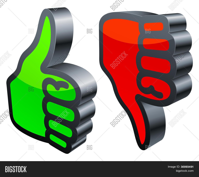 Duimen omhoog en omlaag  Stockvector  u0026 stockafbeeldingen   Bigstock