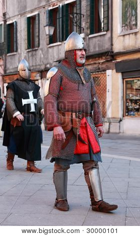 Medieval Man In Armour