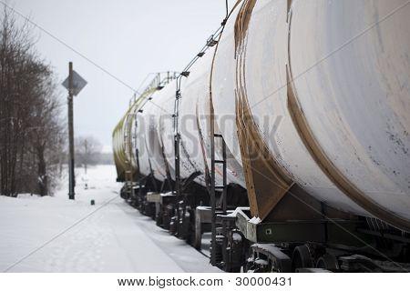 在行中铁路货车