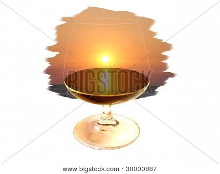 Glass With An Alcoholic Drink