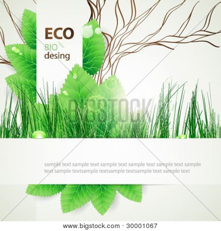 eco concept design background.