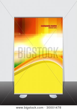 Banner stand display with identity background ready for use