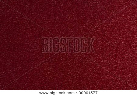 Red Textured Leather