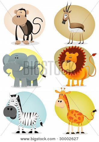 African Jungle Animals Collection