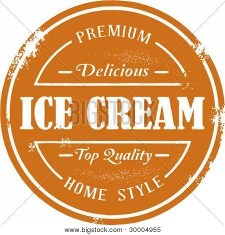 Vintage Style Ice Cream Stamp