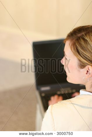 Woman Smile Laptop