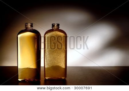 Cosmetic Hygiene Care Wash And Body Scrub Bottles