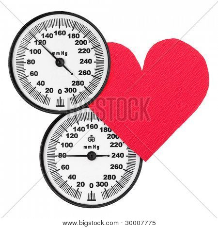 Blood pressure monitor scales and heart