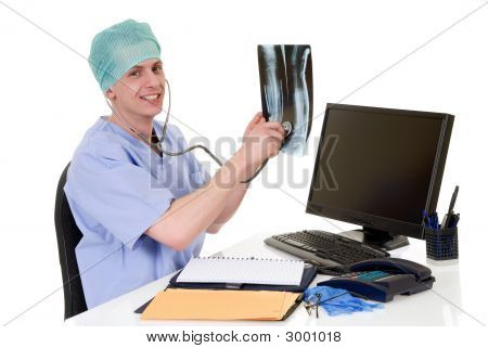 Doctor In Office, Admin Work