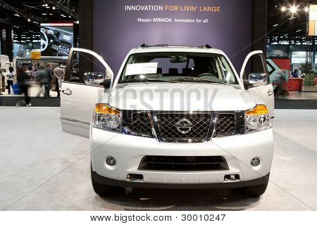 CHICAGO - FEB 12: The 2013 Nissan Armada on display at the 2012 Chicago Auto Show. February 12, 2012 in Chicago, Illinois.