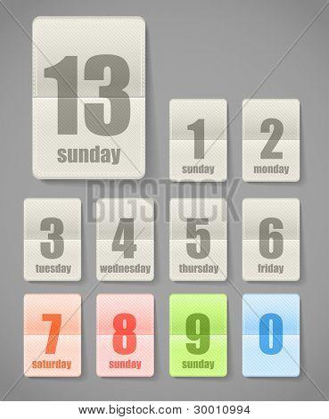 Calendar sheets collection