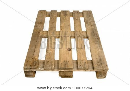 Cen/ euro pallet, isolated on white background