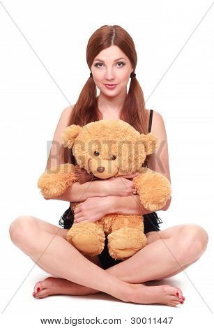 sexy girl with toy