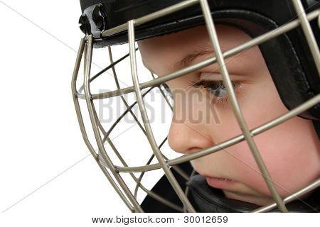 Muchacho del hockey sobre hielo