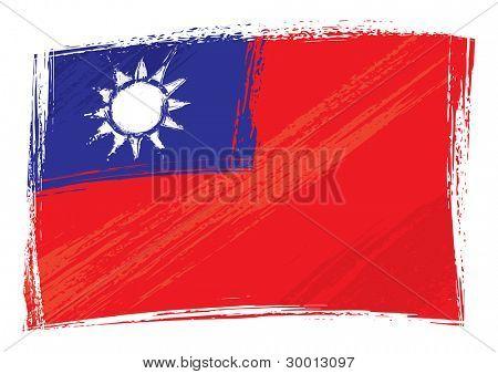 Grunge Taiwan flag
