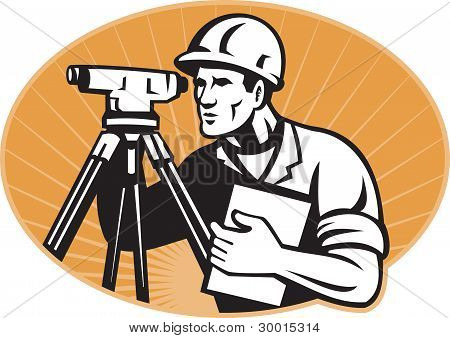 Surveyor Engineer Theodolite Total Station