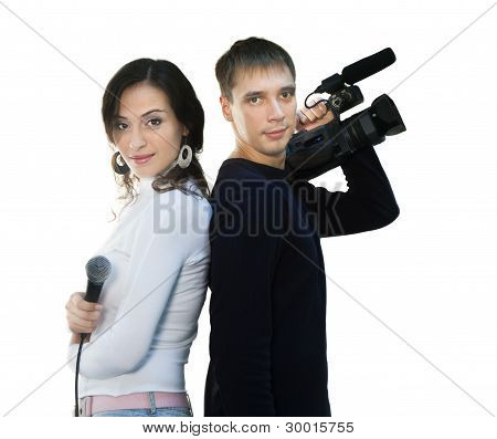 Tv Reporter And Teleoperator