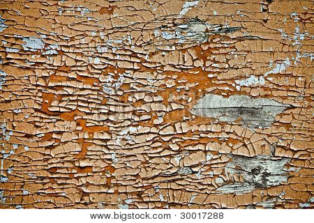 Water Damaged Paint on Wood