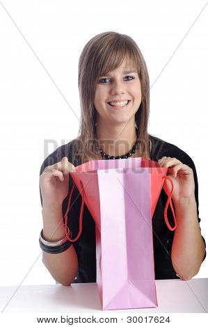 Teenager With Shopping Bag