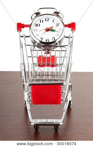 Shopping Cart And Alarm Clock