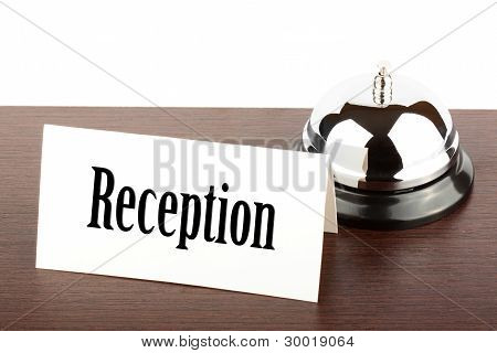 Reception Sign At Hotel