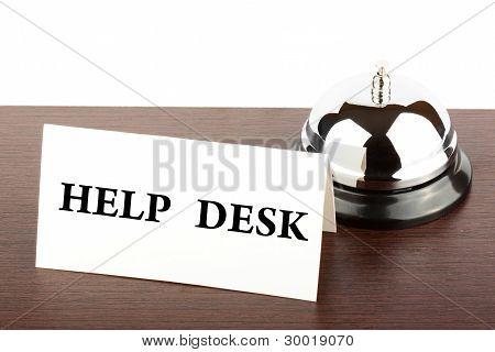 Help Desk Sign At Hotel