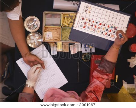 Testing Blood Type Before Blood Donation