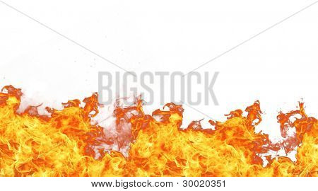 Fire isolated on white background