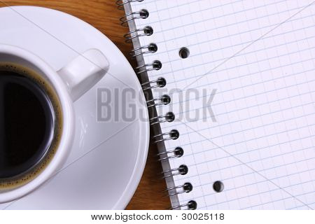 Espresso And Note Book