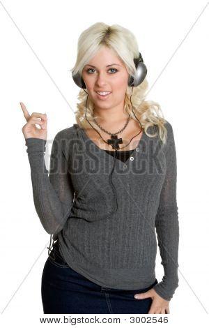 Blonde Music Lover