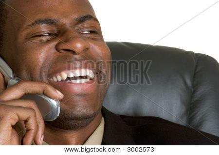 Laughing Phone Man