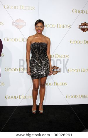 LOS ANGELES - FEB 14:  Sharon Leal arrives at the
