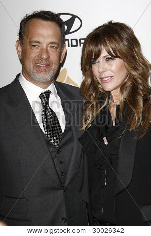 LOS ANGELES - FEB 11:  Tom Hanks, Rita Wilson arrives at the Pre-Grammy Party hosted by Clive Davis at the Beverly Hilton Hotel on February 11, 2012 in Beverly Hills, CA