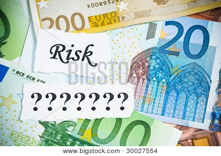 Risk Or Chance Concept On Money