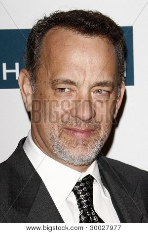 LOS ANGELES - FEB 11:  Tom Hanks arrives at the Pre-Grammy Party hosted by Clive Davis at the Beverly Hilton Hotel on February 11, 2012 in Beverly Hills, CA
