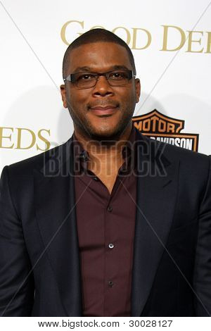 LOS ANGELES - FEB 14:  Tyler Perry arrives at the Lionsgate's World Premiere of 'Good Deeds' at Regal Cinemas L.A. Live on February 14, 2012 in Los Angeles, California