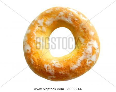 Close Up. Isolated Bagel.