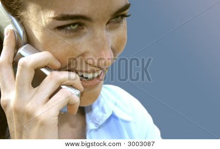 Woman Cellphone