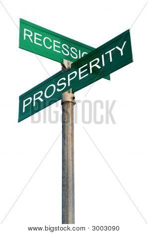 Placa de rua com termos financeiros